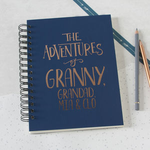Personalised Mum And Co Adventures Memory Book