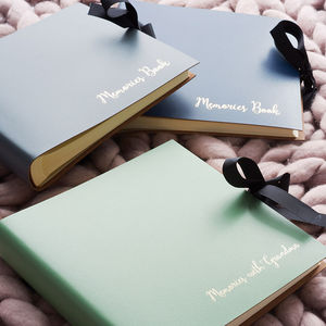 Leather Memories Book - diaries, stationery & books
