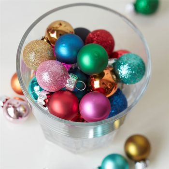 Eclectic Bright Christmas Baubles