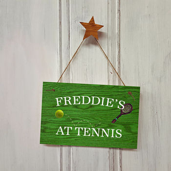 Personalised Tennis Sign