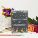 'Congratulations And Celebrations' Chalkboard Card