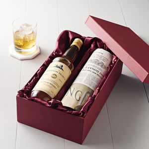 Personalised Single Malt Whisky And Newspaper Set - wines, beers & spirits