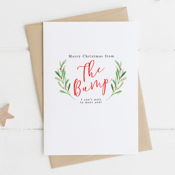 'Merry Christmas From The Bump' Christmas Card