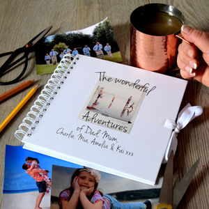 Personalised Family Adventures Photo Scrapbook - gifts under £25