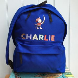 Pirate Mouse Personalised Childrens Backpack - more