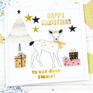 Scandi Christmas Card 'Deer' - cards & wrap