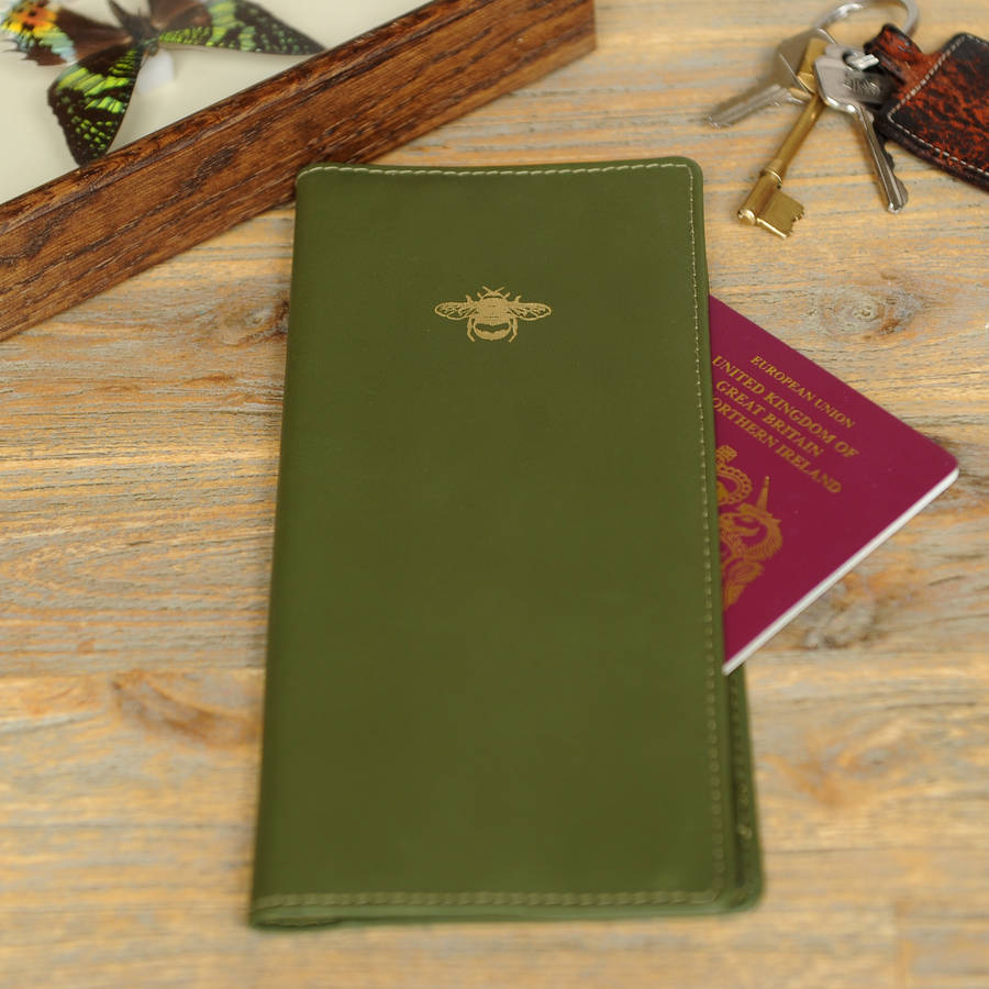 Undercover Luxurious Leather Bee Travel Document Holder By Undercover Notonthehighstreet Com