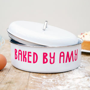 Personalised Large Retro Cake Tin - baking
