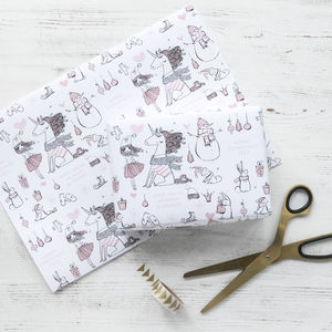 Personalised Unicorn Christmas Wrapping Paper - wrapping