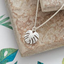 Palm Leaf silver pendant necklace