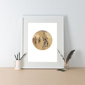 Chase Me, Chase Me Illustration Print - winter sale