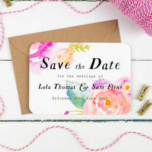 Summer Bloom Wedding Save The Date