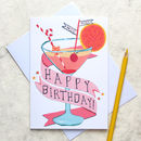 'Cocktails' Birthday Card