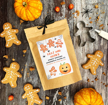 Personalised Halloween Gingerbread Baking Kit