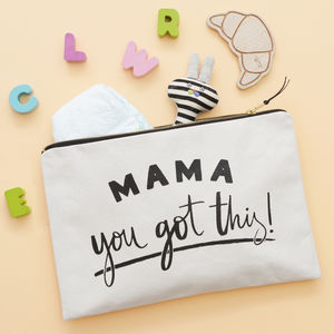 'Mama, You Got This!' Canvas Pouch - make-up & wash bags