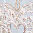 Intricate Scroll Heart Design Hanging Sign