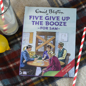 Personalised Five Give Up The Booze Book - coffee table books