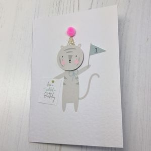 Wild 1st Birthday Card