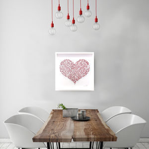 Personalised Laser Cut Big Love Paper Artwork - mixed media & collage