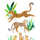 Personalised Cheetah Family Unframed Print