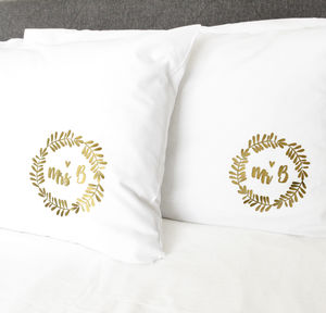 Mr And Mrs Personalised Pillow Cases - bed, bath & table linen