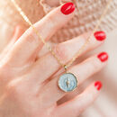 Organic Circle Lightning Bolt Affirmation Necklace
