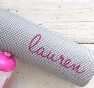 Personalised Yoga / Fitness Mat - for her