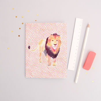 The Lion Leo Zodiac Recycled Paper Notebook
