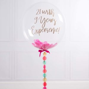 Personalised Happy 30th Confetti Filled Balloon