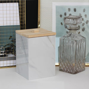 Marble Effect Storage Box With Lid