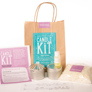 'Happy Birthday' Candle Making Kit - candles & home fragrance