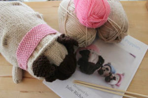 Pug Dog Knitting Kit - interests & hobbies