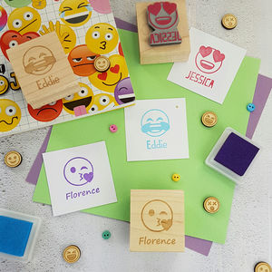 Emoji Personalised Rubber Stamp - baby & child sale