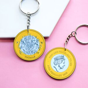 'You Are Priceless' Personalised Coin Keyring