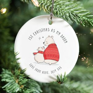 Baby's First Christmas 'As My…' Ceramic Decoration