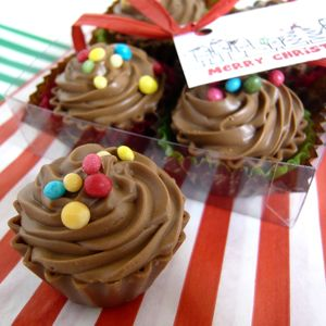 Cupcake Chocolates In A Gift Box - chocolates & confectionery