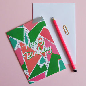 Happy Birthday Fun Geometric Card