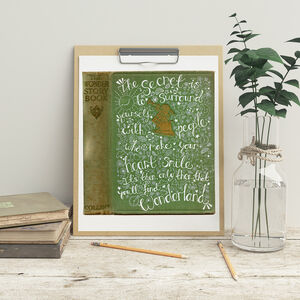 Inspirational Quote 'The Secret Is…' Vintage Art Print