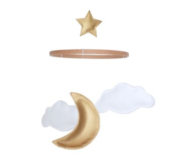 Personalised Cloud, Moon And Star Baby Mobile