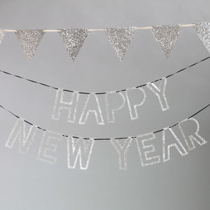Happy New Year Glitter Garland - room decorations