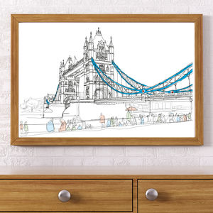 Tower Bridge London   Signed Print - prints for christmas