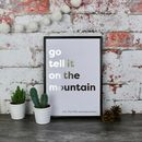 Go Tell It On The Mountain Copper Christmas Lyric Print