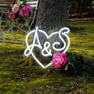 Personalised Couples LED Neon Sign - room decorations