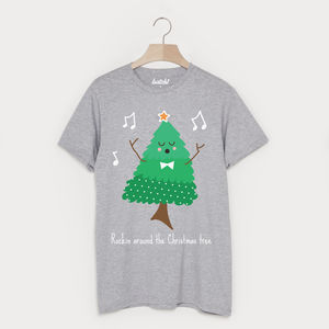 Rockin Around The Christmas Tree Unisex T Shirt - Mens T-shirts & vests