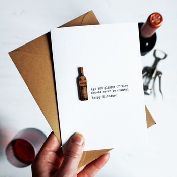 Wine Humorous Alcohol Birthday Card