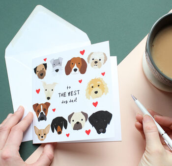 'Best Dog Mum' Or Dad, Father's Day Card