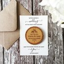 Woodland Deer And Laurel Circle Save The Date Magnet