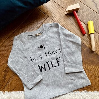 Personalised 'Incy Wincy' Halloween Long Sleeved Top