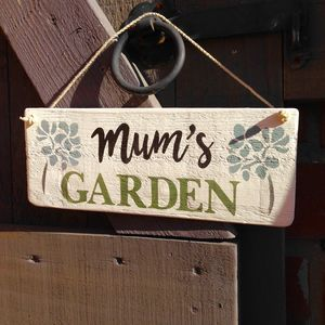 Personalised Mum's Garden Sign - art & decorations