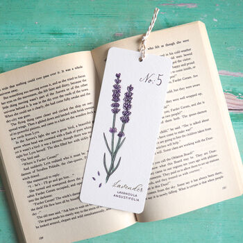 Watercolour Lavender Botanical Bookmark